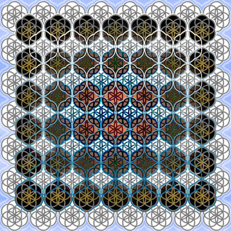 The Flower of Life Sacred Geometry Art Background Pattern Perfect for Any Commercial or Spiritual Communication photo