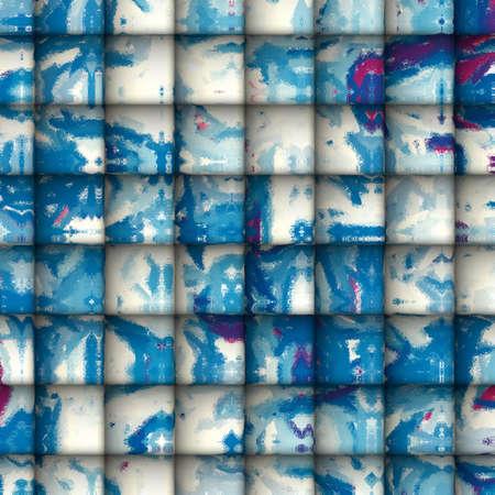 Abstracte kunst - Tegels van Speelsheid Synergy van lichte kleuren, impressionisme en Tegels