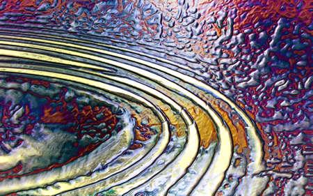 Digital Abstract Vulkanische emoties uitgedrukt door Brush Strokes en Kleur Stockfoto