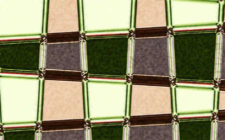 Strepen en Kolommen Zig Zag abstracte achtergrond met zachte textuur en eilanden van kleuren