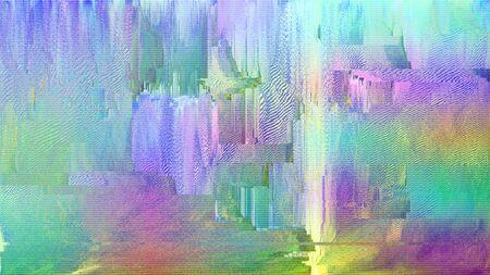 Iridescent glitch pixelated bug screen, refraction colors