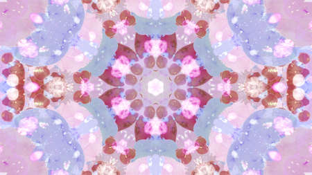 Bright kaleidoscope animation background, mandala, ink. Archivio Fotografico - 150639669
