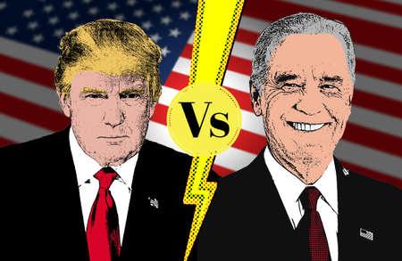 Biden vs Trump, united states presidential election 2020, american vote Publikacyjne