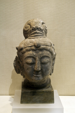 cabeza de buda: Talla de piedra de Buda cabeza