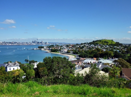 australasia: View from North Head over Auckland