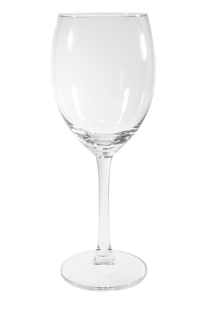 Clean Empty Wine Glass Isolated on White Stock Photo