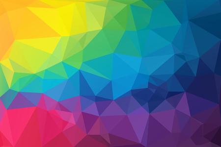 Colorful Low Polygon Random Triangle Abstract photo