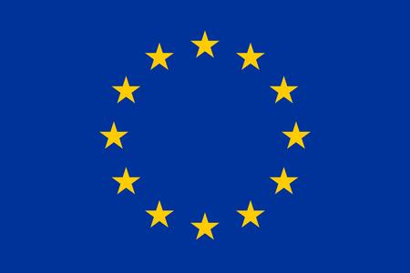 large size: Official Flag of the European Union Flat Large Size Horizontal Stock Photo