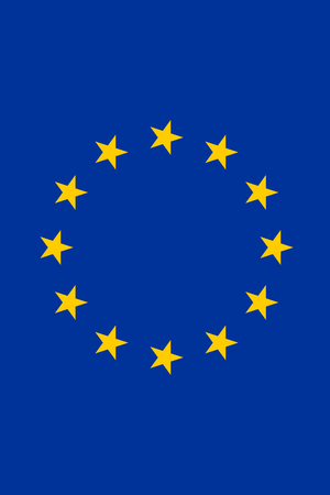 large size: Official Flag of the European Union Flat Large Size Vertical