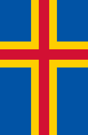 large size: Official Flag of Aland Flat Large Size Vertical Stock Photo