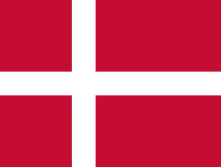 realm: Official Flag of Denmark Flat Large Size Horizontal
