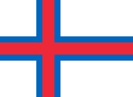 large size: Official Flag of Faroe Islands Flat Large Size Horizontal