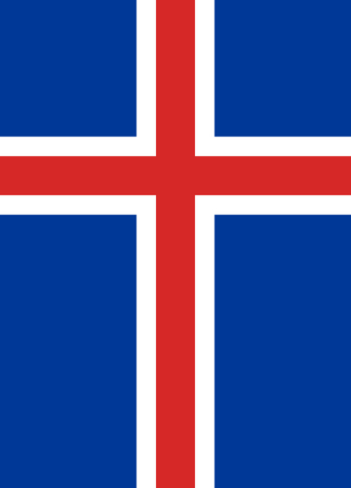 large size: Official Flag of Iceland Flat Large Size Vertical