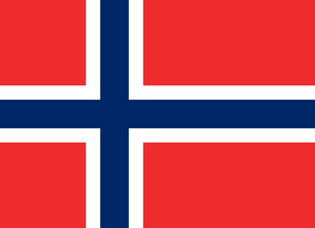 Official Flag of Norway Flat Large Size Horizontal Stock Photo