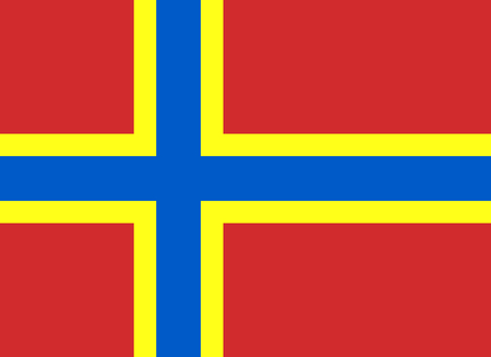 archipelago: Official Flag of Orkney Flat Large Size Horizontal Stock Photo
