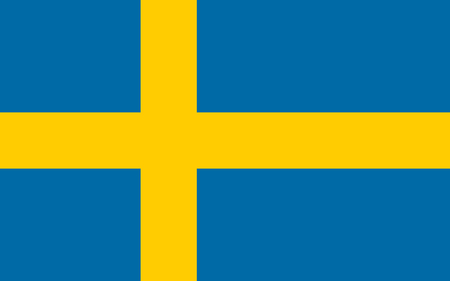 sverige: Official Flag of Sweden Flat Large Size Horizontal Stock Photo