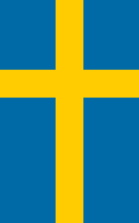 sverige: Official Flag of Sweden Flat Large Size Vertical