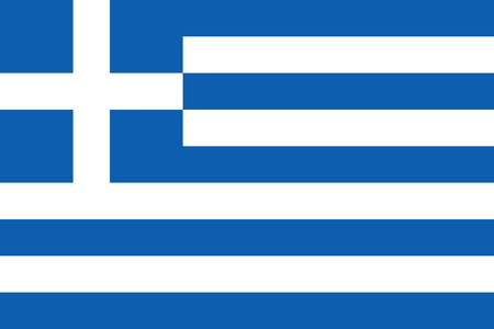 large size: Official Flag of Greece Flat Large Size Horizontal Stock Photo