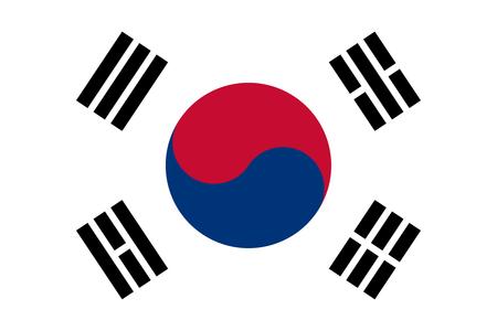 bandiera: Ufficiale grande bandiera della Corea del Sud piatto orizzontale Archivio Fotografico