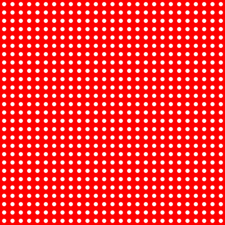 aligned: White Dots on Red Background Large Seamless Pattern