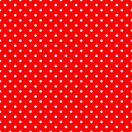 White Polka Dots on Red Background Large Seamless Pattern Stock Photo