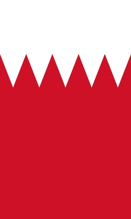 large size: Official Flag of Bahrain Flat Large Size Vertical