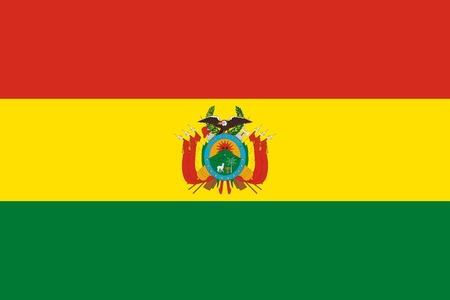 Official Large Flat Flag of Bolivia Horizontal Banque d'images