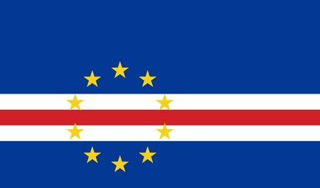 Official Large Flat Flag of Cape Verde Horizontal Stock Photo