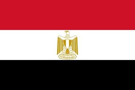 Official Large Flat Flag of Egypt Horizontal