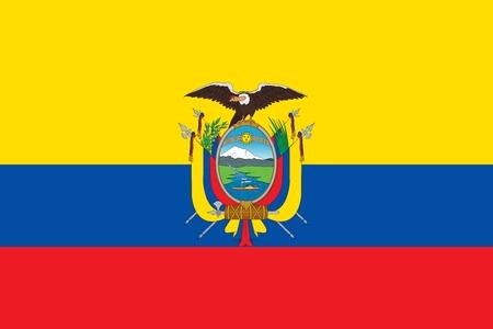 Official Large Flat Flag of Ecuador Horizontal