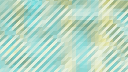 Cyan and Yellow Low Poly Triangles Diagonal Abstract Background Stock Photo