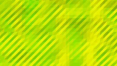 Green and Yellow Low Poly Triangles Diagonal Abstract Background