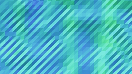 Blue and Green Low Poly Triangles Diagonal Abstract Background Stock Photo