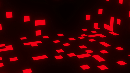 Red Squares on Black Abstract Illustration Background