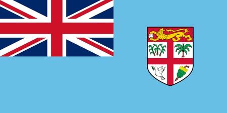Official Large Flat Flag of Fiji Horizontal Stock Photo