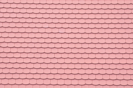 Clean Red Tiled Roof Closeup Abstract Background