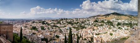 Panoramic view of the Alhambra in Granada  Views of Granada, Sacromonte and Albaicin photo