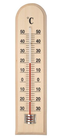 Thermometer isolated on white with paths. Stock Photo - 11972895