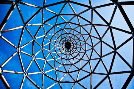 tubular: An abstract tubular structure viewed from below
