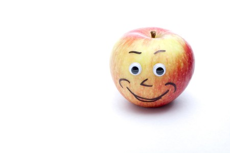 An apple that is smiling. Stock Photo - 7111403