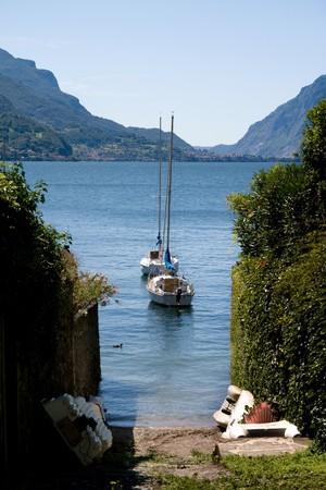 slipway: A slipway on Lake Como in Italy.