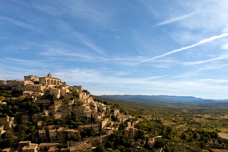 gordes: The village of Gordes in Provence, France. Stock Photo
