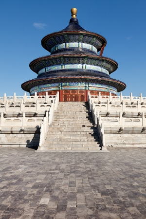 chinese temple: The Temple of Heaven in Beijing, China. Stock Photo