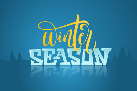 Winter season handlettering inscription.