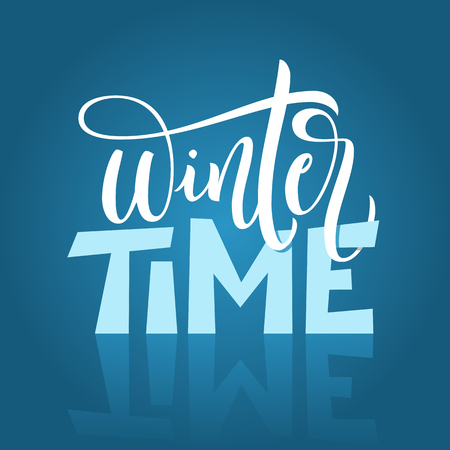 Hand drawn typography lettering phrase isolated on blue background. Ilustrace
