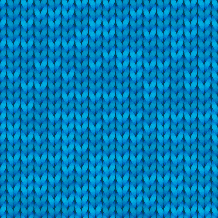 Light blue realistic knit texture seamless pattern. Seamless background for banner, site, card, wallpaper. 写真素材
