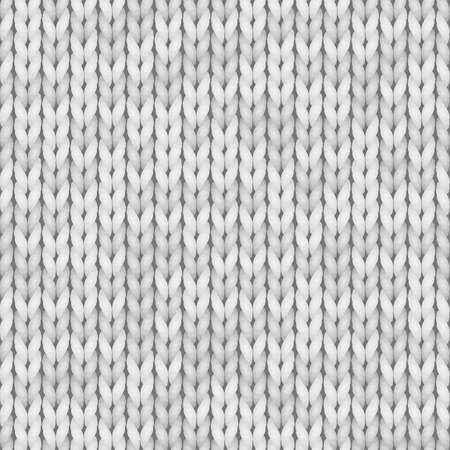 White knit seamless texture. Seamless pattern for print design, backgrounds, wallpaper. Color white, light gray. Foto de archivo