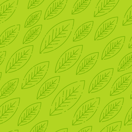 Vector leaves seamless pattern. Geometric background. Template for wallpapers, background, print design, cards, menu design, invitation. Summer and autumn theme. Vector illustration Illustration