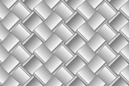 Light gray geometric seamless pattern for wallpapers, textile, fabric, wrapping paper, backgrounds. Graphic effect of volume. Illustration in the engraving style. Vector template.