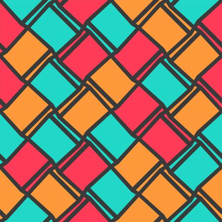 Geometric colorful seamless pattern. Template for stained glass window, wallpapers, textile, fabric, wrapping paper, backgrounds. Abstract vector illustration. Modern trendy colors. Vectores